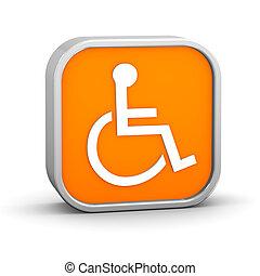 naranja, accesibilidad, señal