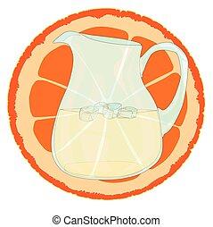Naranja con rodajas.