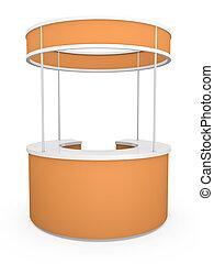 naranja, estante, comercio