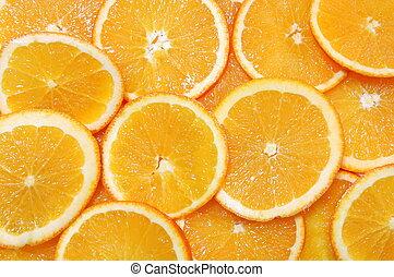naranja, fruta, plano de fondo