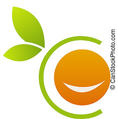 naranja, logotipo