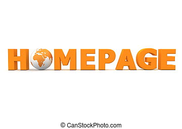 naranja, mundo, página principal