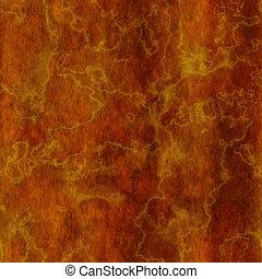 naranja, quemado, mármol