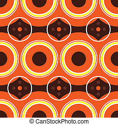 naranja, sixties, retro