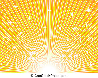 naranja, soleado, fondo amarillo
