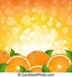 naranja, sunburst, plano de fondo