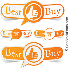 naranja, tags., comprar, mejor