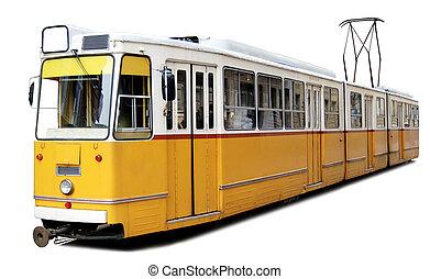 naranja, tranvía
