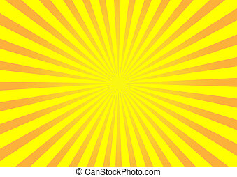 naranja, vector, sunburst, plano de fondo