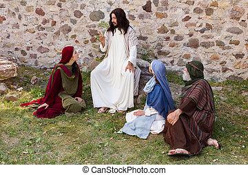 narración, jesús, parábola