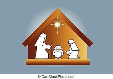 natividad, escena familia