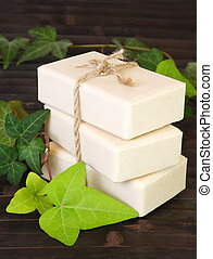 natural, jabón, vertical, ingredientes