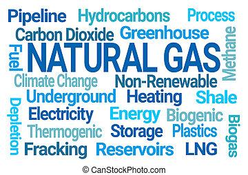 natural, nube, palabra, gas