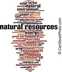 natural, nube, recursos, palabra