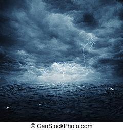 natural, tempestuoso, resumen, fondos, diseño, océano, su