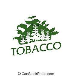 natural, vector, tabaco, logotipo, bienes, productos