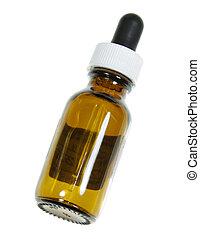 naturopathic, solo, botella, remedio