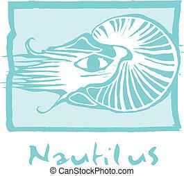 Nautilus en azul