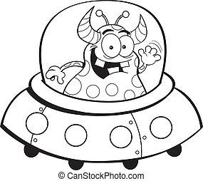 nave espacial, caricatura