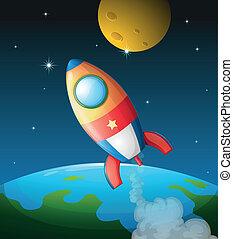nave espacial, luna