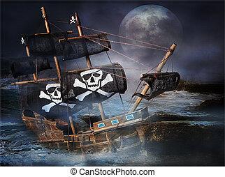 Nave fantasma pirata