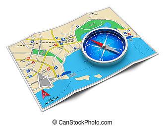 Navegación GPS, concepto de viajes y turismo