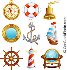 navegación, icono