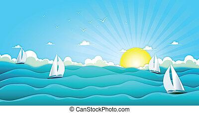 Navegando en el océano de verano