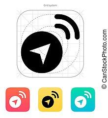 navegante, vector, señal, icon., illustration.