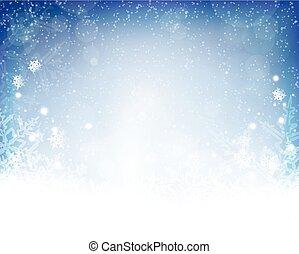 Navidad blanca y abstracta, fondo de invierno