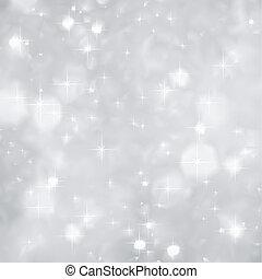 navidad., chispea, vector, plata, plano de fondo