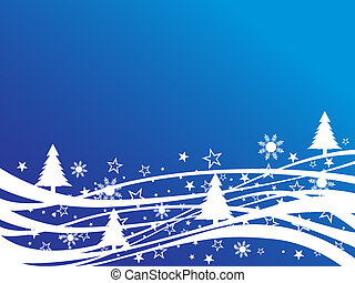 Navidad, escena de invierno