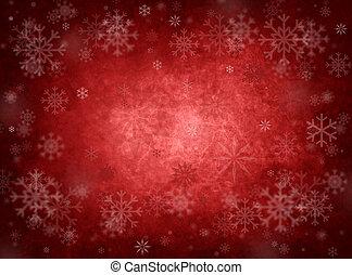 navidad, fondo rojo, hielo