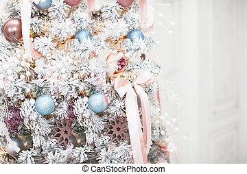 navidad, hermoso, parte de árbol