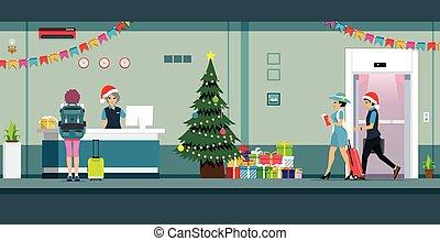 navidad, recepción