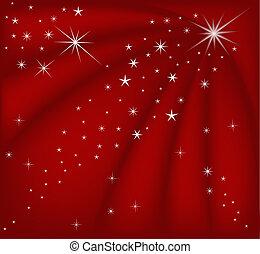 navidad, rojo, magia