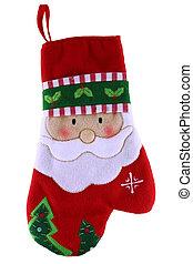 Navidad Santa Claus Sock aislado