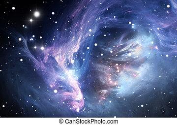 Nebulosa espacial azul