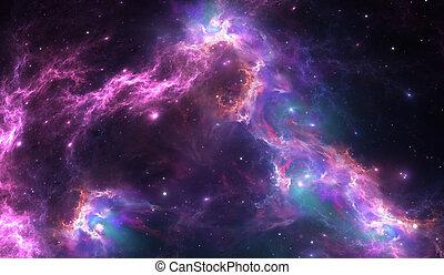 Nebulosa espacial, para uso de proyectos en ciencia, investigación y educación.