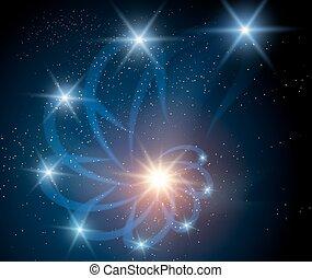 nebulosa, plano de fondo, galaxia