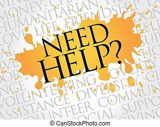Necesito ayuda, nube de palabras