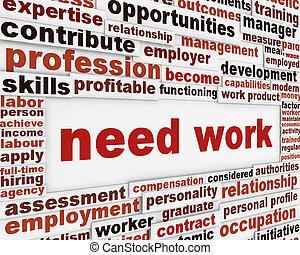 Necesito diseño de pósters de trabajo
