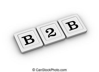 Negocios a símbolo de negocios. Señal de B2B.