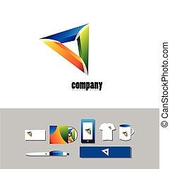 Negocios corporativos logo abstracto si