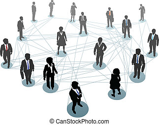Negocios de conexión en red