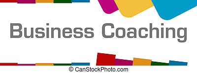 Negocios entrenando a fondo abstracto colorido