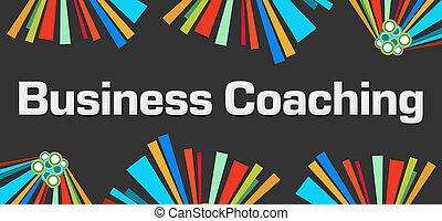 Negocios entrenando fondo oscuro y colorido