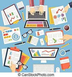 Negocios, estrategia, planificación