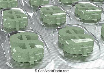 Negocios farmacéuticos, sida de dólar