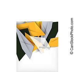 Negocios geométricos forma abstracta fondo
